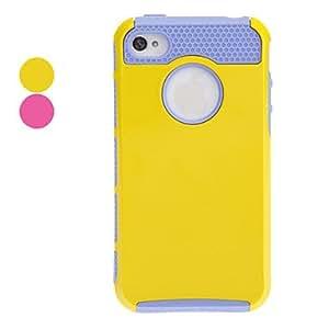 conseguir Shells Doble Design Case Purple TPU Inner Shell duro para el iPhone 4/4S (colores surtidos) , Amarillo