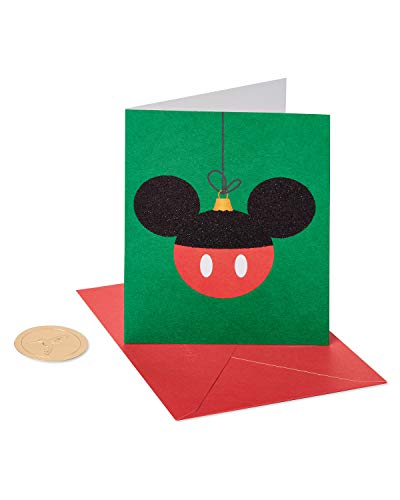 Papyrus Christmas Cards Boxed, Mickey Mouse Holiday Ornament (20-Count)