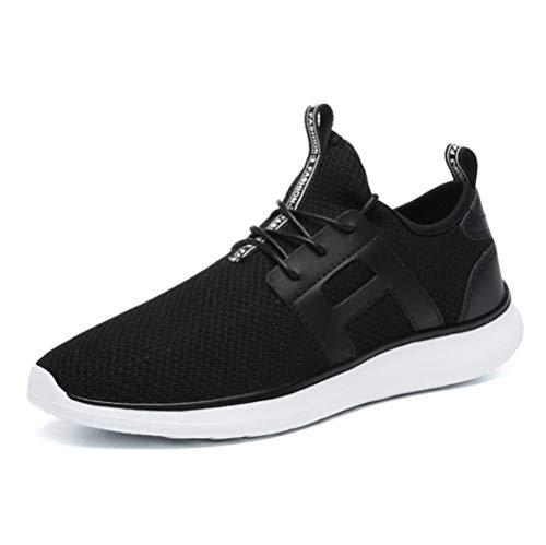 Respirantes mogeek de Chaussures Sneakers Sport Athlétique Basses Homme Noir Running Basket Fitness rAIwr