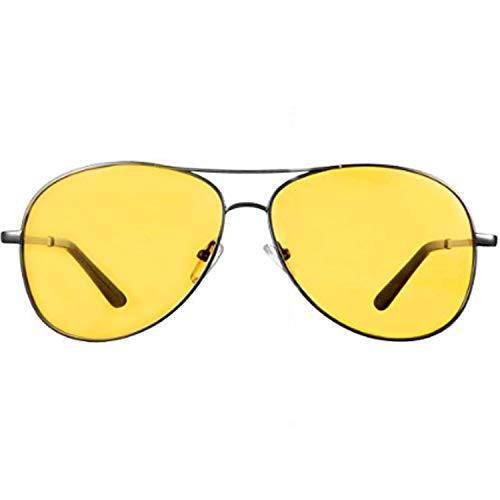Night Vision Glasses for Driving - FEIDU HD night driving glasses anti glare polarized mens women glasses (2yellow/black, 2.04)