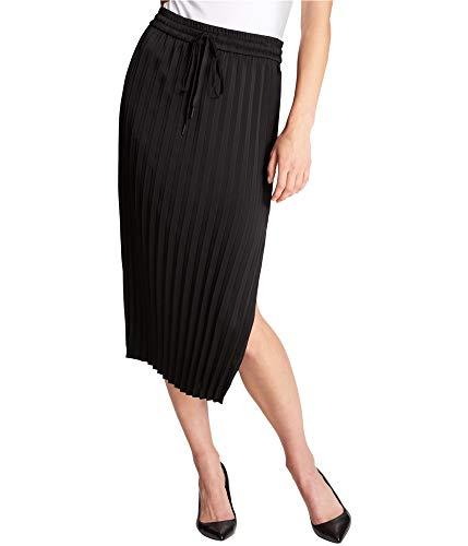 - DKNY Women's Split Hem Pleated Skirt (Black, Large)