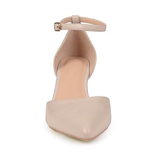 Collezione Journee Womens Matte Cinturino Alla Caviglia Pumps Nude