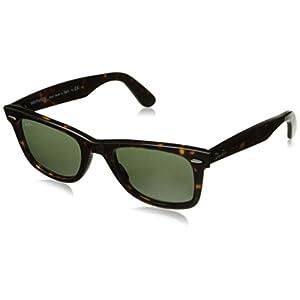 Ray-Ban Original Wayfarer Sunglasses (RB2140) Brown/Green Acetate - Non-Polarized - 50mm
