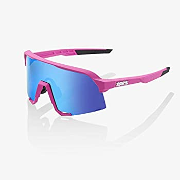 Image of 100% S3 Sunglasses (Matte Pink/HIPER Blue Multilayer Mirror Lens) Sports Sunglasses