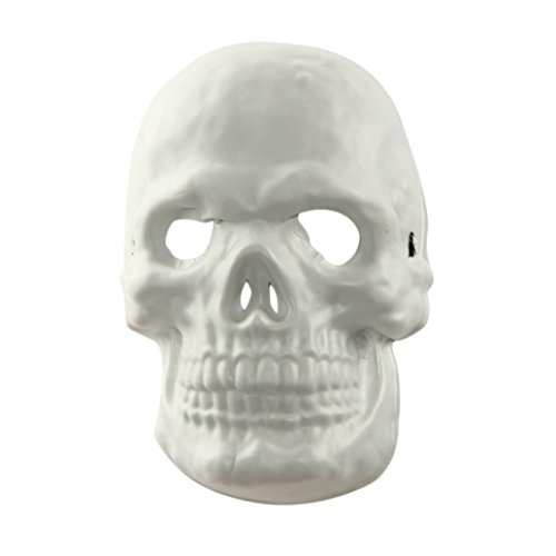 [Mask, Yasalu Halloween Funny Scary Diversity Fancy Ball Mask (white)] (Funny Bones Skeleton Costume)