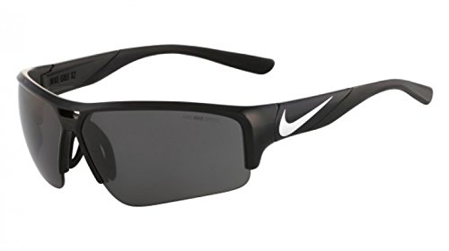 Nike EV0872-001 Golf X2 Pro Sunglasses (One Size), Black/Metallic Silver, Grey Lens