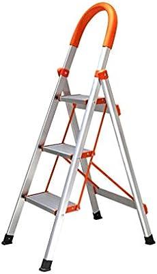 Z-STOOL Escalera De 3 Peldaños Escalera Plegable Portátil Antideslizante con Empuñadura De Goma Capacidad De 330 LB, Escaleras De Aluminio For El Hogar: Amazon.es: Electrónica
