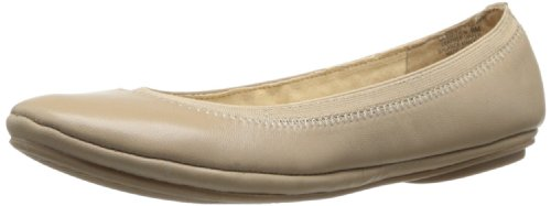 - Bandolino Women's Edition Leather Ballet Flat,Natural,8 M US