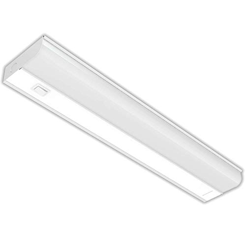 "Hardwired LED Under Cabinet Task Lighting - 12 Watt, 18"", Dimmable, CRI>90, 5000K (Day Light), Wide Body, Long Lasting Metal Base With Frost Lens"