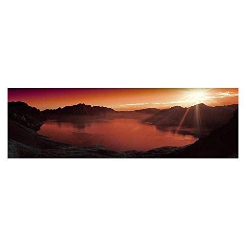 Lake Outlet (Leighhome Aquarium Sticker The Lake Water Under The Setting Sun Fish Tank Backdrop Static Cling L29.5 x H21.6)