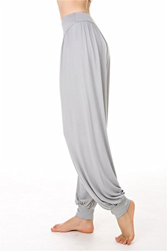 Leggings Pilates SIMYJOY Light Yoga o Lunghi da Modal donna Grey Spandex per Loose Fit Pantaloni morbido e TqYfT6U