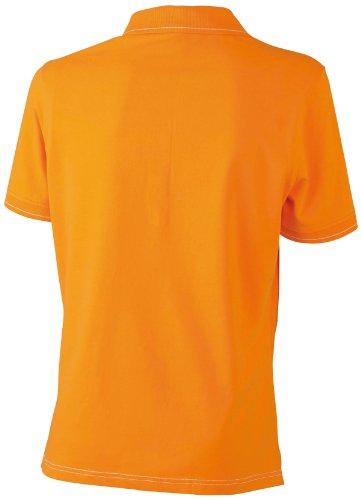 James & Nicholson Funktionspolo Elastic - Polo Mujer, Naranja (orange/white), Small (Talla del fabricante: Small)