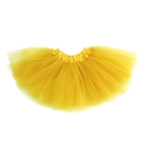 GOGO TEAM Girl's Tutu Skirt Ballet Dance Skirt Party Fairy Costume Skirt-Yellow