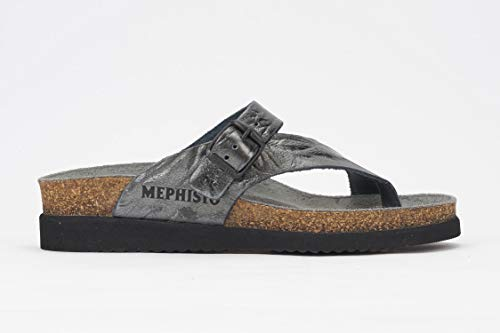 Mephisto Women's Helen Sandals Grey Etna Metallic Leather 35 (US Women's 5)