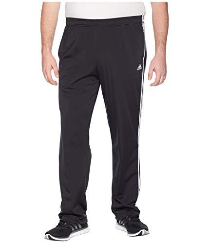 adidas Mens Big & Tall Essentials 3-Stripes Regular Fit Tricot Pants Black/White 1 XXXX-Large 34