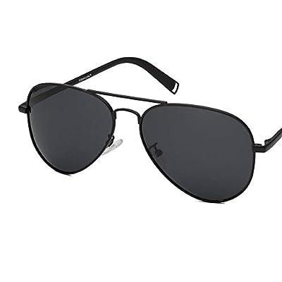 FeliciaJuan Oval Small Metal Polarized Sunglasses Mirrored Lens Unisex Glasses
