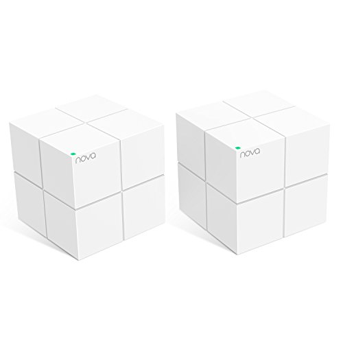 Tenda Nova MW6(2-Pack) Whole Home Mesh WiFi System Coverage up to 4,000 sq. ft, 2-4 bedrooms, Plug Play, Works Alexa,Parental Controls,2 Gigabit Ports/Unit by Tenda