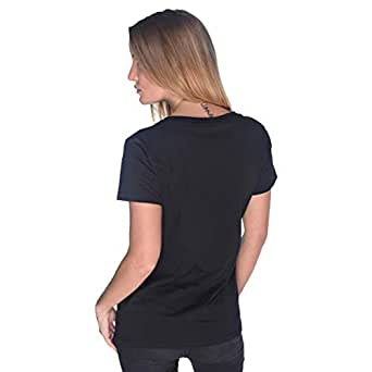 Creo Yellow Beard Skull T-Shirt For Women - Xl, Black