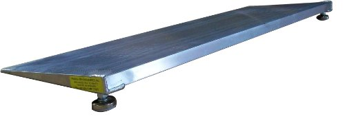PVI ELEV8 Adjustable Leg Aluminum Threshold Ramp, 600lb Capacity