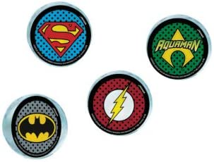 4 pcs. amscan Assorted Justice League Bounce Balls for Kids
