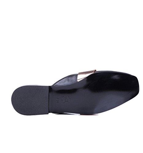 Plana Con Zapatillas De Encaje De Dos Desgaste Black