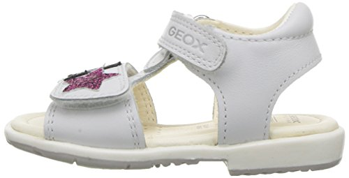 Pictures of Geox Girls' VERRED 16 Sandal White/Multicolor B8221B085BNC0653 5