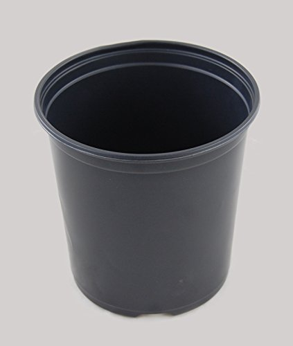 Black Plastic One Gallon Trade Pots - Holds 0.664 Gallon - 270 Pots per case By Growers Solution by East Jordon