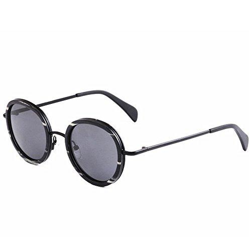 polarizadas al Retro UV pequeño TAC a Metal Estilo Madera Sol Gafas Libre protección Lente de Redondo Aire y Playa Aclth Exquisito Mano Gafas Gafas Gris Hecho de Sol Pesca de conducción esq de de ZHwqdZpIx