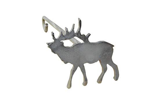(The Leather Guy Branding Iron North American Elk Steak Wood Brand Western Decor Handmade 3 x 3 )