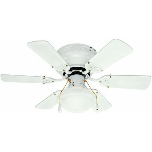 Cheap Home Impressions 30 Twister White Hugger Ceiling Fan