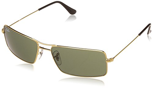 Ray-Ban UV Protected Oversized Men's Sunglasses – (0RB3305I00158|58|Crystal Green Color)