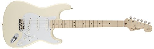 (Fender Eric Clapton Stratocaster Electric Guitar, Maple Fingerboard - Olympic White)