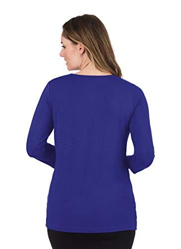 Femme Violet enzian Shirt T 097 Trigema 4qA7FwW