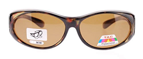 Polarized Fit Over Sunglasses Wear Over Cover Over Prescription Glasses, Size Small, Tortoise (Carrying Case - Sunglasses Fit Over Which Glasses Regular