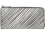 COACH Bleecker Coated Canvas Slim Zip Checkbook Wallet Silver/White Multicolor One Size