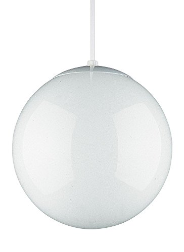 Sea Gull Lighting Hanging Globe 1 Light White Pendant