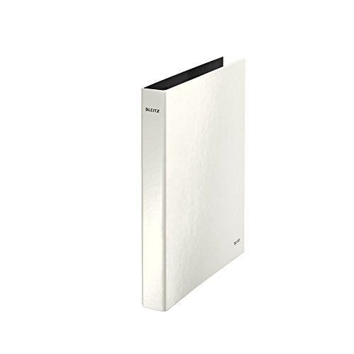 Leitz 2 Ring Binder, Holds up to 230 Maxi Sheets, Wow Range, 40 mm Spine, 42410001 - A4, White ()