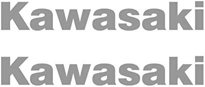 Pegatinas quilla Plata para Modelos Kawasaki 2 Piezas