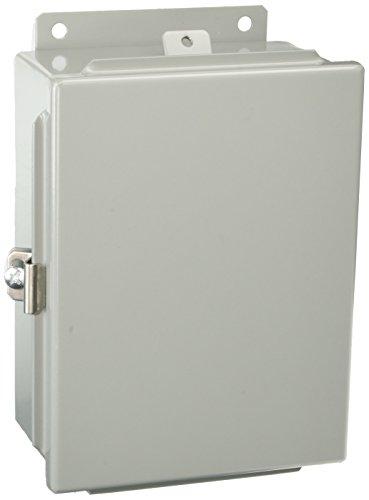 (BUD Industries Series SN Steel NEMA 4 Sheet Metal Box with Mounting Bracket, 9-1/2