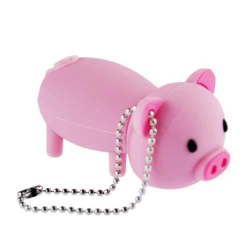 16GB USB Flash Drive Rubber Piggy Pig Shaped 16G Memory Stick USB 2.0 U Disk - Pink (Flash Pig Drive)