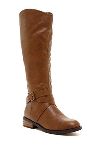 Bucco Venita Donna Alta Moda Stivali Da Equitazione Cognac