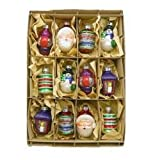 old time christmas ornaments - Kurt Adler Early Years Glass Ornament, 2.5-Inch, Set of 12