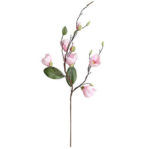owhelmlqff-1Pc Artificial Flower Decorative Flower Magnolia Table Office Home Garden Wedding Party DIY Decor Beautiful- Pink ()