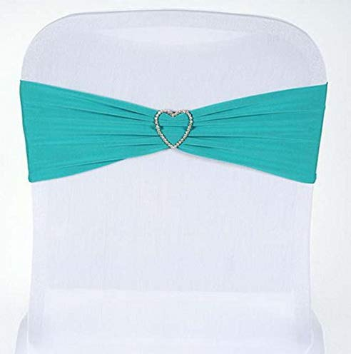 Florance jones 5pc x Sexy Spandex Chair Sash for ding Events Banquet Decor Chair Bow Sash Party Decor Supply - Turquoise | Model WDDNG - 3089 |