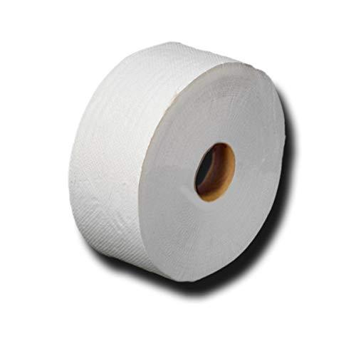 Jumbo toiletpapier, grote rollen, jumborollen, toiletpapier, recycling, 2-laags, ca. 60% wit, lengte ca. 360 m, diameter…