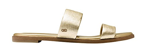 Gold Soft Sandals (Cole Haan Womens Findra Sandal 9 Soft Gold Leather)