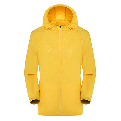 (Exteren Men Casual Ultra-Light Jackets Windproof Rainproof Windbreaker Shell Trench Coat)