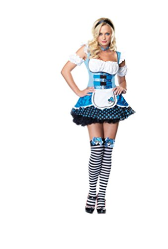 [Leg Avenue Womens Mushroom Alice Wonderland Outfit Fancy Dress Sexy Costume, S/M (2-8)] (Wonderland Outfit)