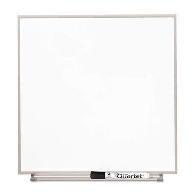 Matrix Magnetic Boards, Painted Steel, 23 x 23, White, Aluminum Frame, Sold as 1 Each by Quartet