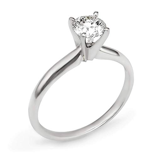 1.25 Ct Certified Diamond - 1.25 CT EGL Certified, Natural Round Diamond with 950 PLATINUM, classic 4-prong solitair Engagment Ring, promise Birdal wedding ring E-F/VS